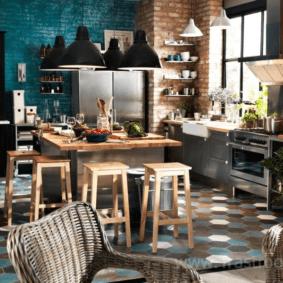 кухня с темным полом фото дизайн