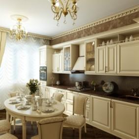 кухня с темным полом фото оформления