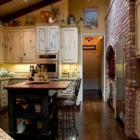 кухня с темным полом фото вариантов