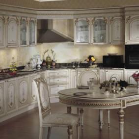кухня с темным полом фото варианты