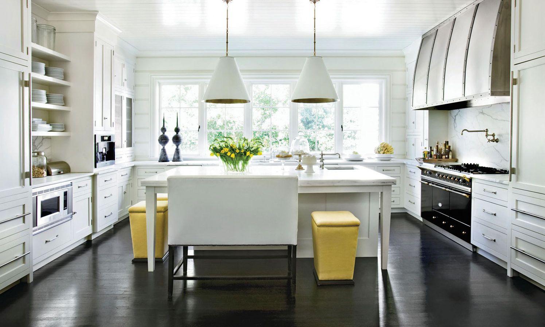 кухня с темным полом фото виды
