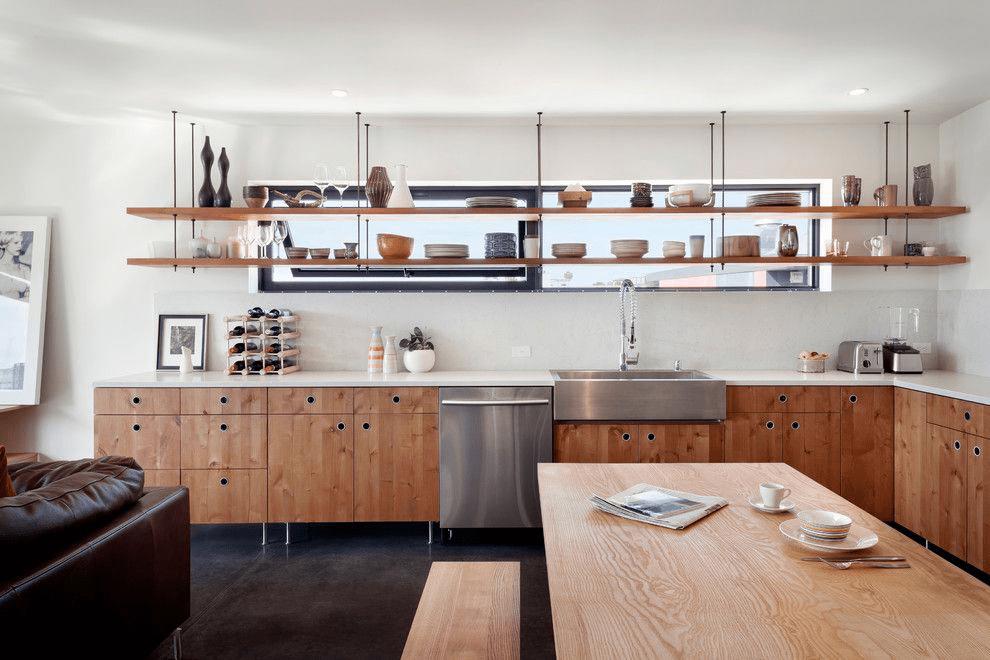 кухня с темным полом идеи декор
