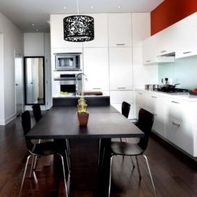 кухня с темным полом варианты фото