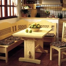 кухонная скамья декор