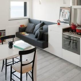 кухонная скамья фото интерьер