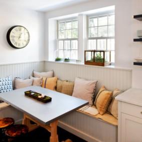кухонная скамья оформление фото