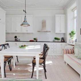 кухонная скамья фото оформления