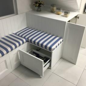 кухонная скамья фото виды