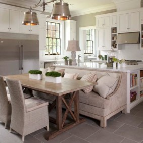 кухонная скамья фото видов