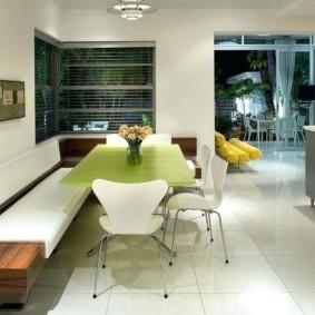 кухонная скамья виды декора