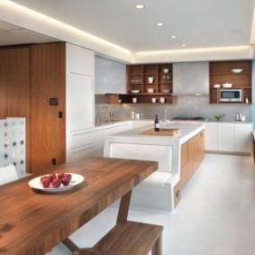 кухонная скамья виды оформления