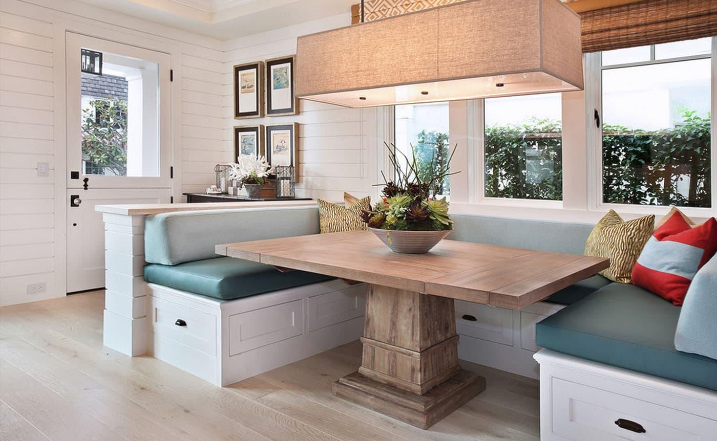 кухонная скамья для большой кухни