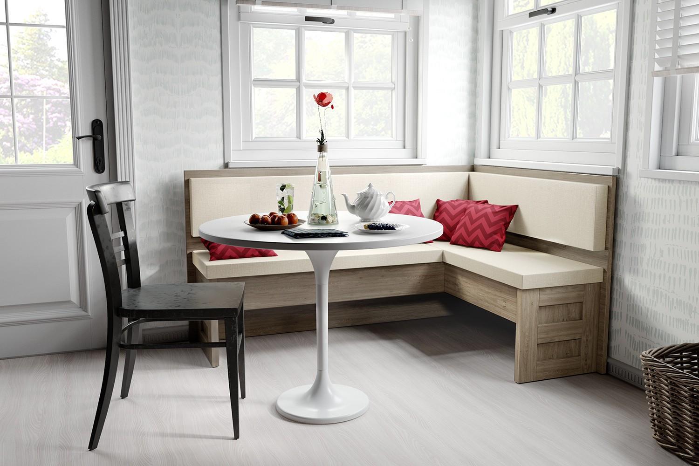кухонная скамья в интерьере кухни