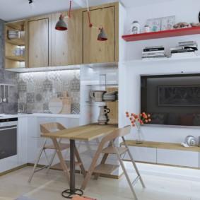 Барная стойка в кухонной зоне