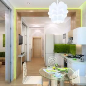 Освещение в однокомнатной квартире молодой семьи