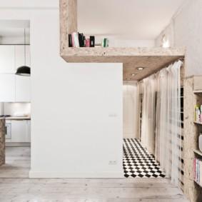 Дизайн двухъярусной квартиры в белом цвете