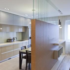 Полуперегородка в кухне гостиной
