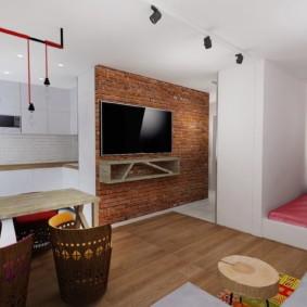 Спальное место в нише квартиры