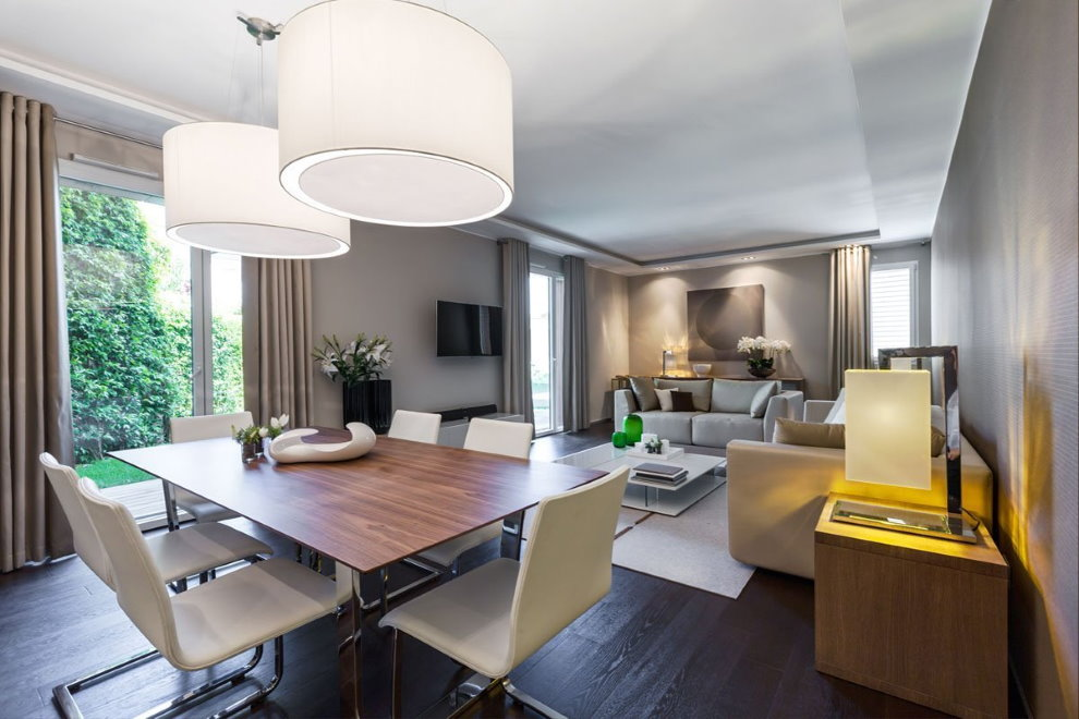 Современная квартира холостяка в стиле хай-тек