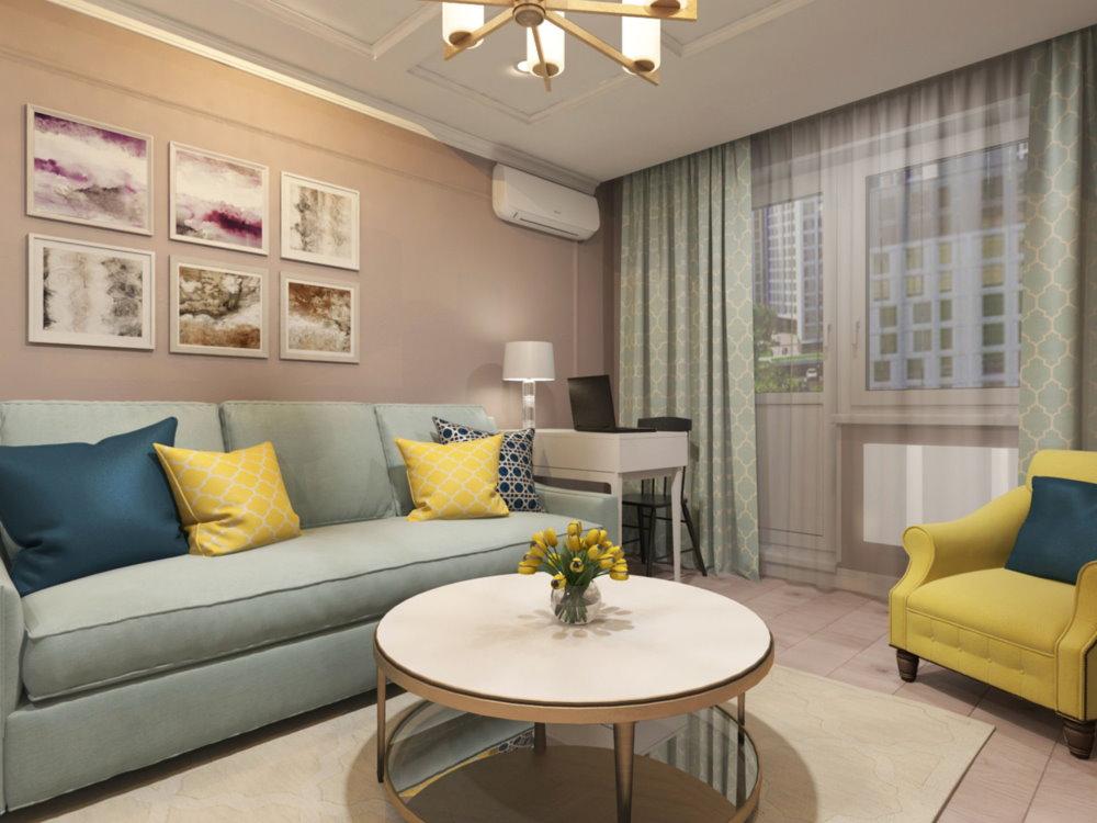 Гостиная в квартире классического стиля