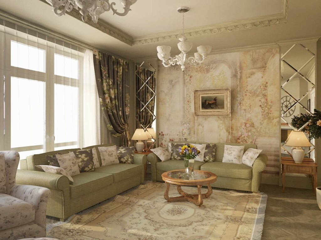 Ковер в квартире стиля прованс