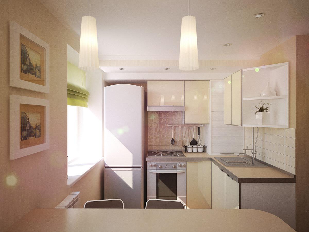 маленькая кухня фото интерьер