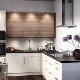 маленькая кухня интерьер дизайн