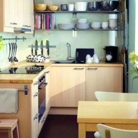 маленькая кухня виды