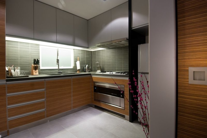 маленькая кухня виды декора