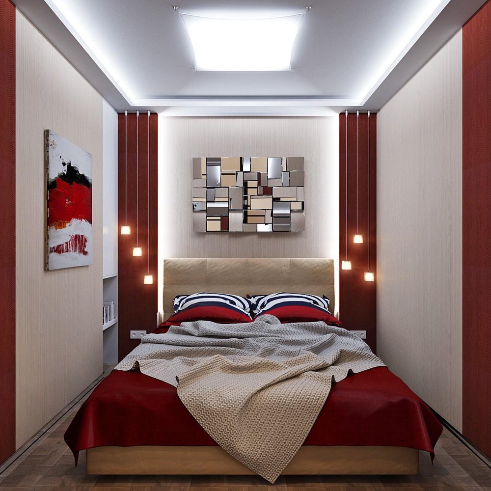Яркий свет в спальне без окон