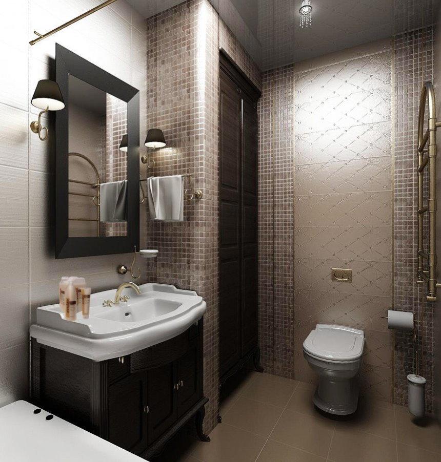 Белая сантехника в ванной комнате