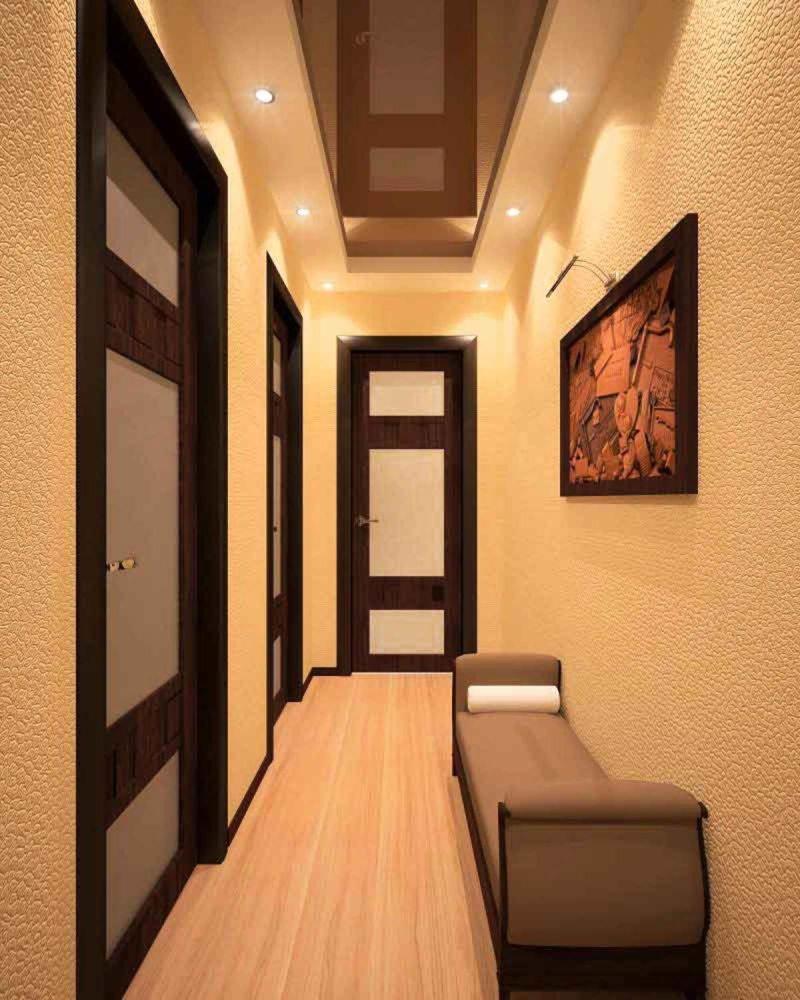 узкий коридор прихожая фото интерьер