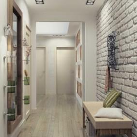 длинный узкий коридор в квартире фото интерьера