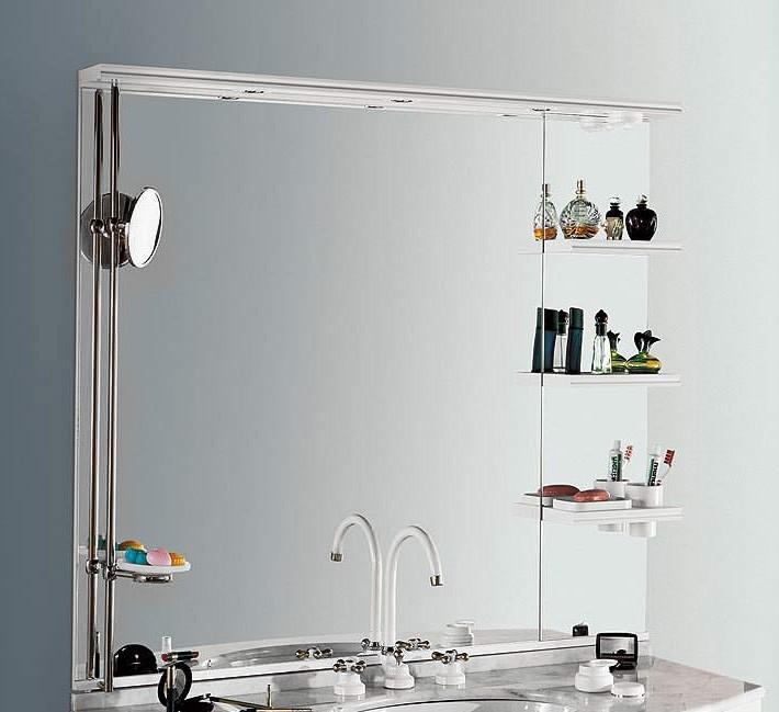 полочка из стекла в ванной комнате