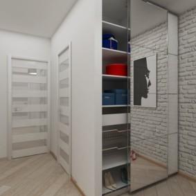 Зеркальная дверца двустворчатого шкафа
