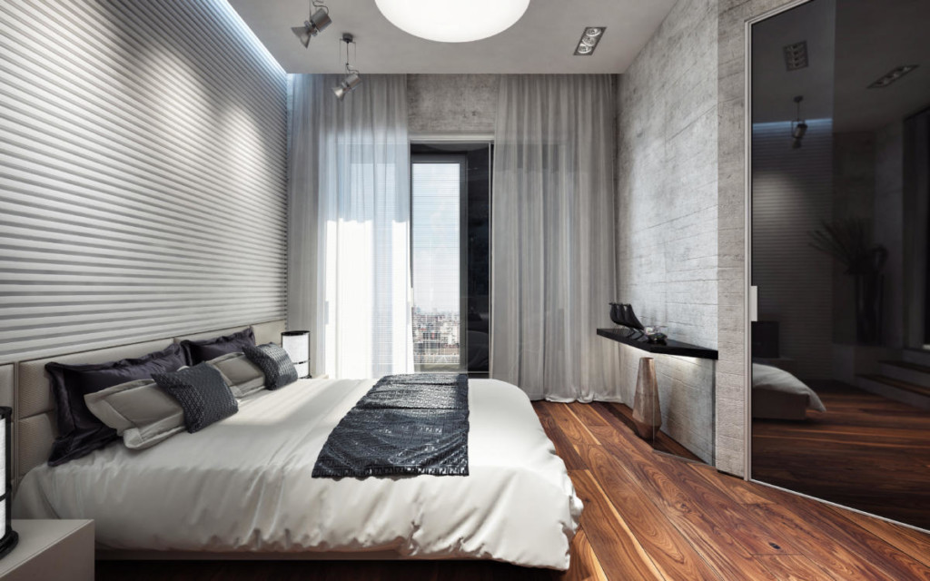 Дизайн спальной комнаты для одинокого мужчины