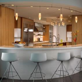 барная стойка для кухни декор фото
