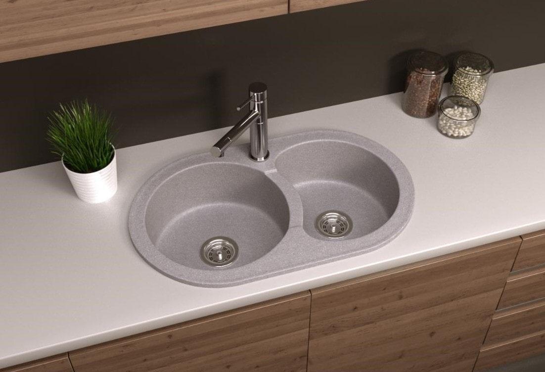 мойка для кухни из искусственного камня фото декора