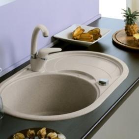 мойка для кухни из искусственного камня фото дизайна