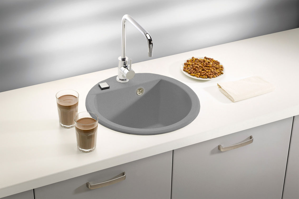мойка для кухни из искусственного камня фото интерьер