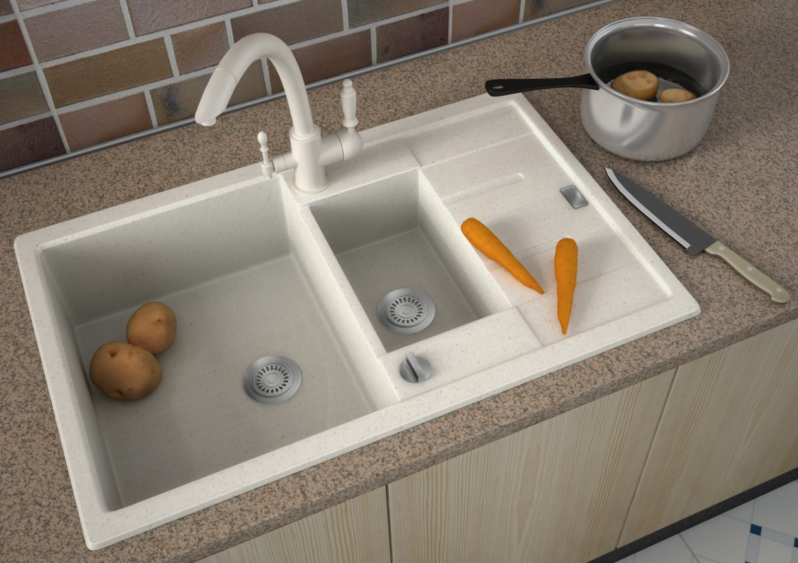 мойка для кухни из искусственного камня дизайн