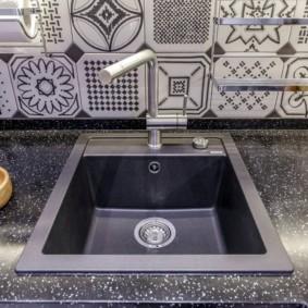 мойка для кухни из искусственного камня фото декор