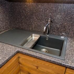 мойка для кухни из искусственного камня фото идеи