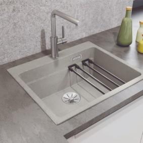 мойка для кухни из искусственного камня фото оформления