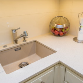 мойка для кухни из искусственного камня фото виды