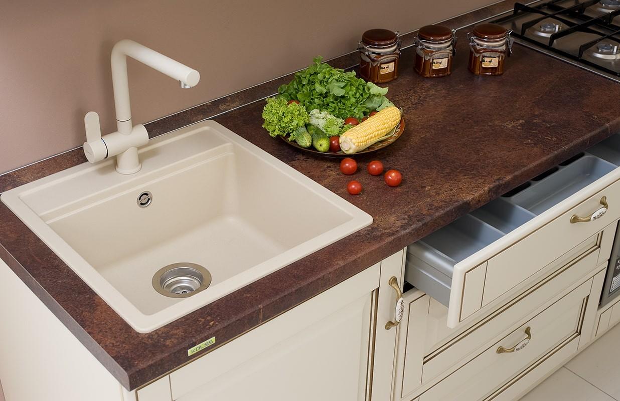 мойка для кухни из искусственного камня идеи оформления