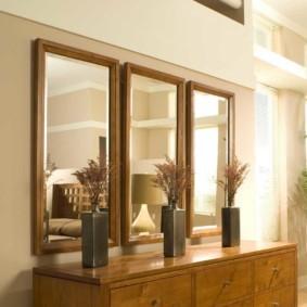 настенное зеркало в прихожую виды фото