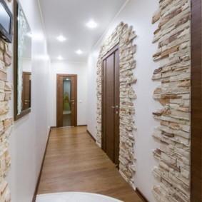 натяжной потолок в коридоре фото идеи