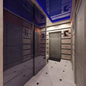 натяжной потолок в коридоре фото вариантов