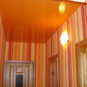 натяжной потолок в коридоре оформление идеи